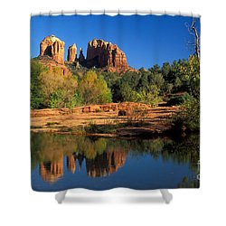 Cathedral Rock Shower Curtain by Mark Newman
