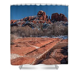 Cathedral Rock Winter Shower Curtain