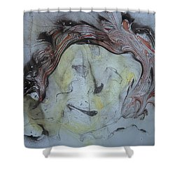 Shower Curtain featuring the painting Catman by Mike Breau