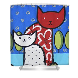 Cats 1 Shower Curtain by Trudie Canwood