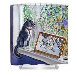 Cats And Mice Sweet Memories Shower Curtain by Irina Sztukowski