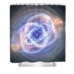 Cat's Eye Nebula Shower Curtain by Adam Romanowicz