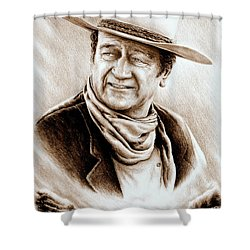 Cattle Drive Sepia Soft Shower Curtain by Andrew Read