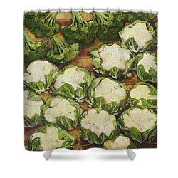 Cauliflower March Shower Curtain by Jen Norton