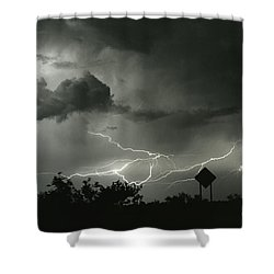 Shower Curtain featuring the photograph Caution Signs by J L Woody Wooden