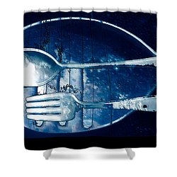 Blue Luster Shower Curtain