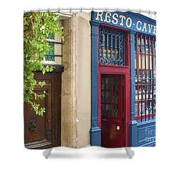 Shower Curtain featuring the photograph Cave A Vins by Victoria Harrington
