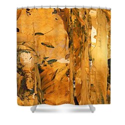 Cave Of Gold Shower Curtain by Nancy Kane Chapman