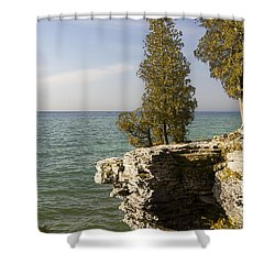 Cave Point - Signed Shower Curtain