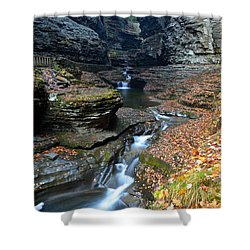 Cavernous Walls Shower Curtain by Frozen in Time Fine Art Photography