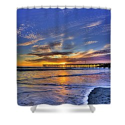 Cayucos Sunset Shower Curtain
