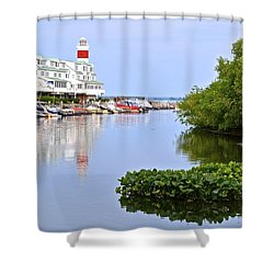 Cedar Point Ohio Shower Curtain by Frozen in Time Fine Art Photography
