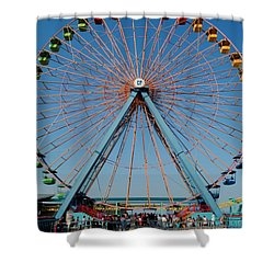 Cedar Point Sunday Shower Curtain by Frozen in Time Fine Art Photography