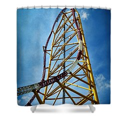 Cedar Point - Top Thrill Dragster Shower Curtain by Shawna Rowe