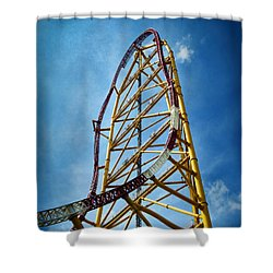 Cedar Point - Top Thrill Dragster Shower Curtain