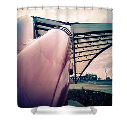 Cedar Rapids Amphitheater Pipes Shower Curtain