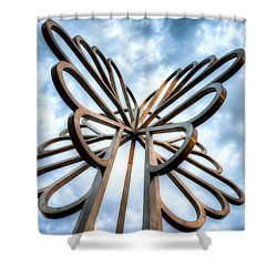 Cedar Rapids Five Seasons Tree  Shower Curtain
