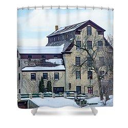 Cedarburg Mill Shower Curtain by Susan  McMenamin