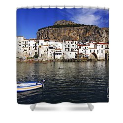 Cefalu - Sicily Shower Curtain by Stefano Senise