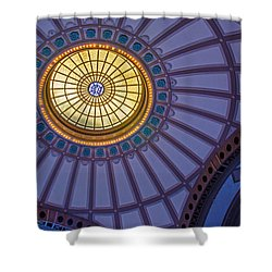Shower Curtain featuring the photograph Ceiling In The Chattanooga Choo Choo Train Depot by Susan  McMenamin