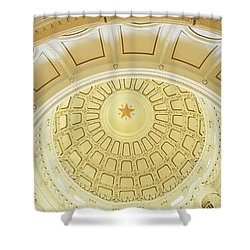 Ceiling Of The Dome Of The Texas State Shower Curtain by Panoramic Images