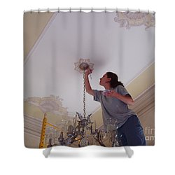 Ceiling Painting Shower Curtain
