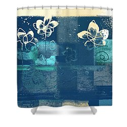 Celebrate - Blue3tx2 Shower Curtain by Variance Collections
