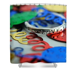 Celebrate Love Shower Curtain by Margie Chapman