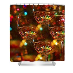 Celebrate Shower Curtain by Peggy Hughes