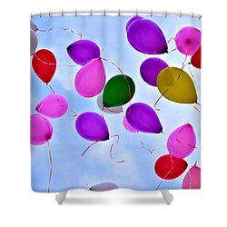 Celebrate Shower Curtain by Tara Potts