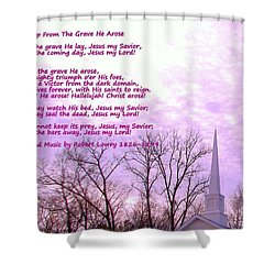Celebrating The Resurrection Shower Curtain