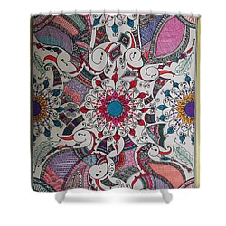 Celebration Of Design Shower Curtain by M Ande