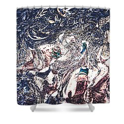 Shower Curtain featuring the digital art Celebration Of Entanglement by Richard Thomas