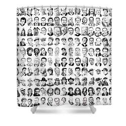 Celebrity Drawings Shower Curtain by Murphy Elliott