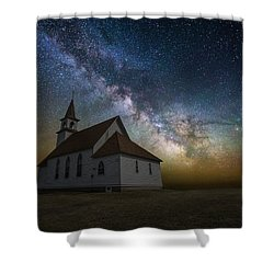 Shower Curtain featuring the photograph Celestial by Aaron J Groen