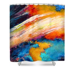 Fantasies In Space Series Painting. Celestial Vibrations. Shower Curtain