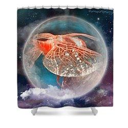 Celestial Dragonfly, A Digital Creation Shower Curtain