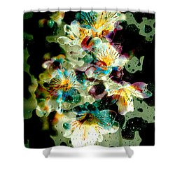 Celestial Flowers Shower Curtain by Loriental Photography