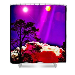 Shower Curtain featuring the photograph Celestial Infusion by Susanne Still