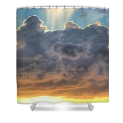 Celestial Rays Shower Curtain by Shelley Neff