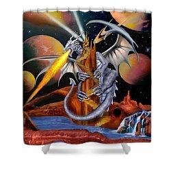 Celestian Dragon Shower Curtain