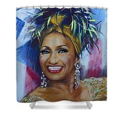 Celia Cruz Shower Curtain by Viola El