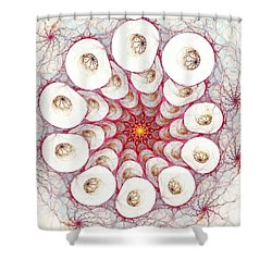 Cell Printer Shower Curtain by Anastasiya Malakhova
