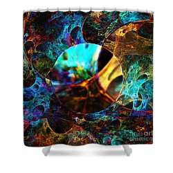 Cell Research Shower Curtain by Klara Acel