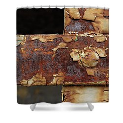 Shower Curtain featuring the photograph Cell Strapping by Fran Riley