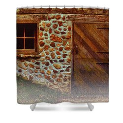 Cellar Door In The Mist Shower Curtain by Jack Zulli