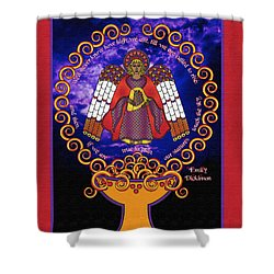 Celtic Angel Rising Shower Curtain