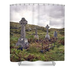 Shower Curtain featuring the photograph Celtic Cemetary by Hugh Smith