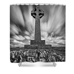 Celtic Cross Shower Curtain by Dave Bowman