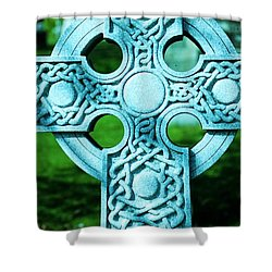 Celtic Cross Shower Curtain by Kathleen Struckle
